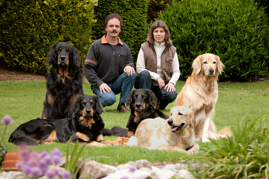 Hovawarte vom Düringer Moor - 2012: Familienfoto